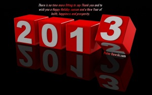 Happy New Year to All! May 2013 be a blessed year filled with much goodness for all!