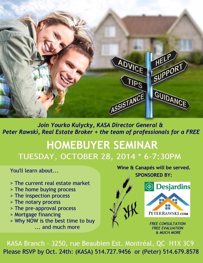 Home Buyer Seminar Tus Oct 28th 14 Mtl Real Estate